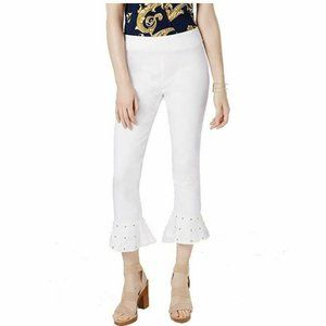 INC 6 Bright White Cropped Pants NWT CF48